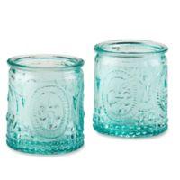 Kate Aspen® Vintage Blue Glass Tealight Holder (Set of 4)
