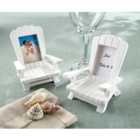 "Kate Aspen® ""Beach Memories"" Adirondack Chair Place Card/Photo Frame (Set of 4)"