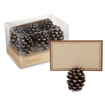 kate aspen pinecone place cardphoto holders set of 6