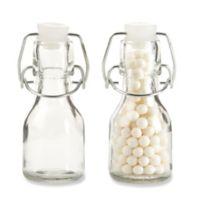 kate aspen swing top mini glass favor bottle set of 12
