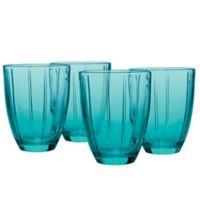 Noritake® Colorwave Glassware Tumblers in Turquoise (Set of 4)