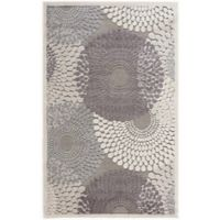 Nourison Graphic Illusions 3-Foot 6-Inch x 5-Foot 6-Inch Area Rug in Grey