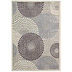 "Nourison Graphic Illusions 7'9"" x 10'10"" Area Rug in Grey"
