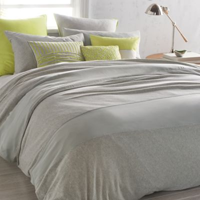 Dkny Fraction Full Queen Duvet Cover In Heathered Grey