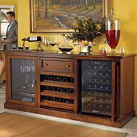 Wine Enthusiast® Siena Wine Credenza in Walnut