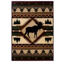 United Weavers Contours Moose Wilderness 1-Foot 10-Inch x 2-foot 8-Inch Area Rug in Toffee