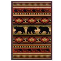 United Weavers Native Bear 1-Foot 10-Inch x 2-Foot 8-Inch Area Rug in Terracotta