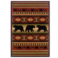 United Weavers Native Bear 2-Foot 7-Inch x 4-Foot 2-Inch Area Rug in Terracotta