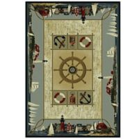 United Weavers Seascapes 1-Foot 10-Inch x 3-Foot Area Rug in Blue