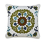 Harbor House® Arietta Embroidered Square Throw Pillow in Ivory