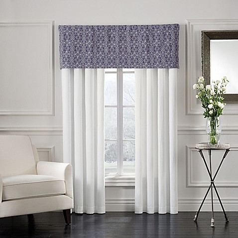 Sonoma Window Curtain Panel Pair And Valance In Blue Bed