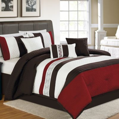 zander 7piece queen comforter set in