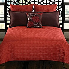 Charrie 5-Piece Comforter Set in Red