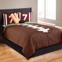 Field Goal 5-Piece Twin Comforter Set in Brown