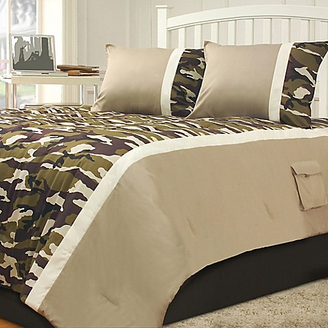 Campground Comforter Set In Green Taupe Bed Bath Amp Beyond