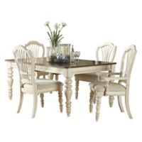 Hillsdale Pine Island 5-Piece Dining Set with Wheat Back Chairs in Old White
