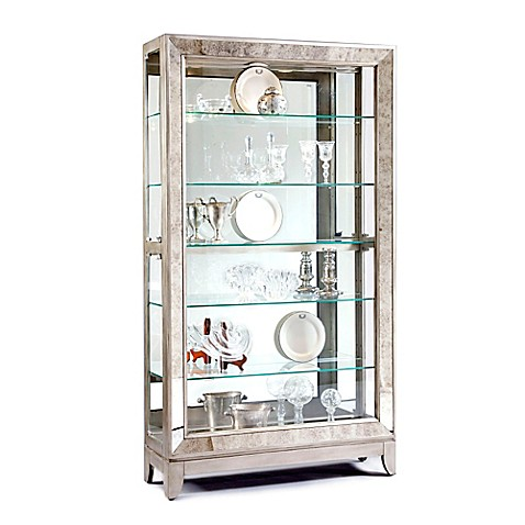 bathroom curio cabinet pulaski side entry curio in platinum bed bath amp beyond 11465