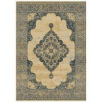 Radiance Traditional 6-Foot 6-Inch X 9-Foot 10-Inch Area Rug in Gold/Navy