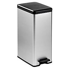 Curver 40 Liter Slim Metallic Trash Can