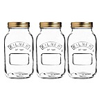 Kilner 34 oz. Preserve Twist Top Canning Jars (Set of 3)