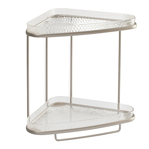 Idesign rain 2 tier vanity shelf bed bath beyond - Bed bath and beyond bathroom vanity ...