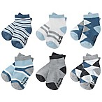 Capelli New York Size 12-24M 6-Pack Argyle Stripe Socks