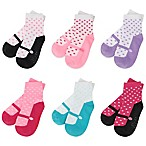 Capelli New York Size 3-12M 6-Pack Mary Jane Socks