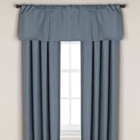 Bridgeport Window Curtain Valance in Aqua