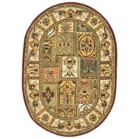 Safavieh Classic Patchwork 4-Foot 6-Inch x 6-Foot 6-Inch Oval Wool Rug in Amber