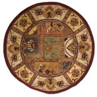 Safavieh Classic Patchwork 3-Foot 6-Inch Round Wool Rug in Amber
