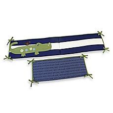 nojo® alligator blues crib bedding collection - buybuy baby