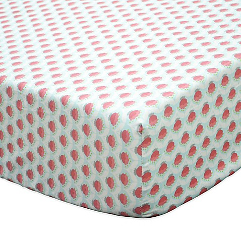 The Peanut Shell 174 Gia Geometric Floral Fitted Crib Sheet