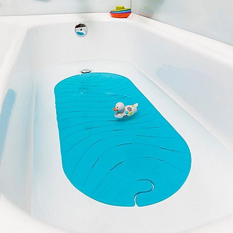 boon ripple bath mat in blue bed bath beyond. Black Bedroom Furniture Sets. Home Design Ideas