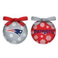 NFL New England Patriots LED Lighted Christmas Ornament Set (Set of 6)