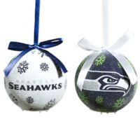 NFL Seattle Seahawks LED Lighted Christmas Ornament Set (Set of 6)