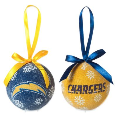 nfl san diego chargers led lighted christmas ornament set set of 6 - Lighted Christmas Ornaments