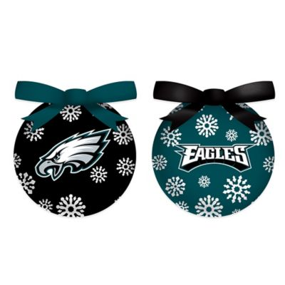 NFL Philadelphia Eagles LED Lighted Christmas Ornament Set (Set Of 6)