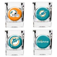 NFL Miami Dolphins Collector's Shot Glasses (Set of 4)