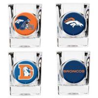 NFL Denver Broncos Collector's Shot Glasses (Set of 4)