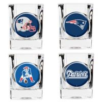 NFL New England Patriots Collector's Shot Glasses (Set of 4)