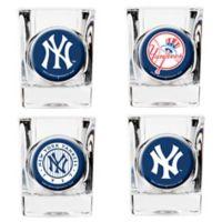 MLB New York Yankees Collector's Shot Glasses (Set of 4)