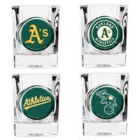 MLB Oakland Athletics Collector's Shot Glasses (Set of 4)