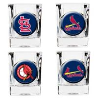 MLB St. Louis Cardinals Collector's Shot Glasses (Set of 4)