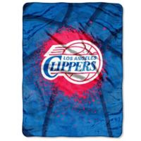NBA Los Angeles Clippers Shadow Play Raschel Oversized Throw Blanket