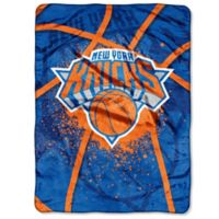 NBA New York Knicks Shadow Play Raschel Oversized Throw Blanket