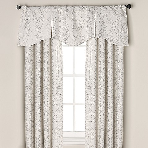 buy captiva rod pocket back tab 108 inch window curtain panel in white from bed bath beyond. Black Bedroom Furniture Sets. Home Design Ideas