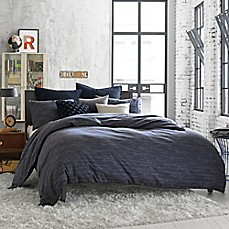 Kenneth Cole Reaction Home Element Reversible Duvet Cover in Indigo