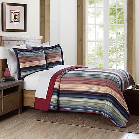 Brooklyn Loom Lake Stripe Yarn Dye Quilt Bed Bath Amp Beyond