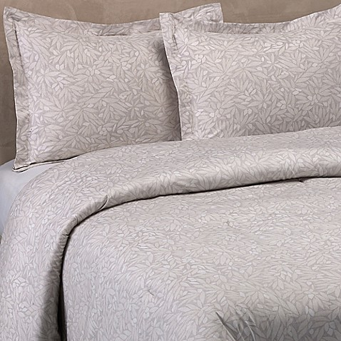 in bath vera bamboo store wang product comforter grey leaves beyond set bed