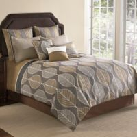 Brenda 9-Piece Queen Comforter Set in Brown